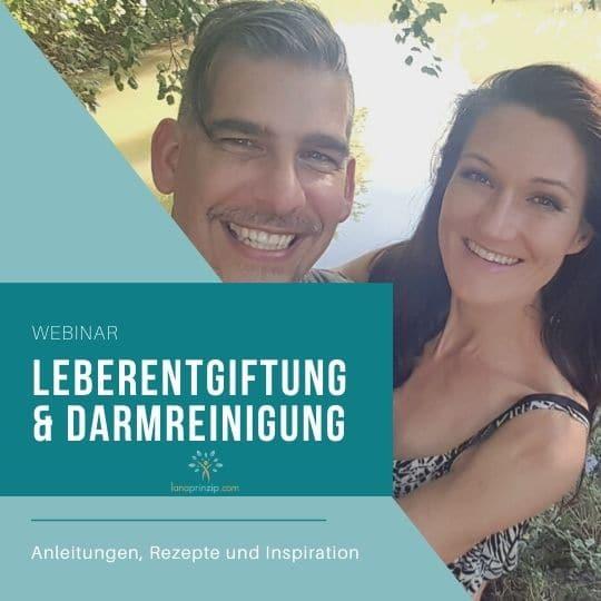 Schriftzug Leberentgiftung und Darmreinigung und Sandra und Matthias Exl